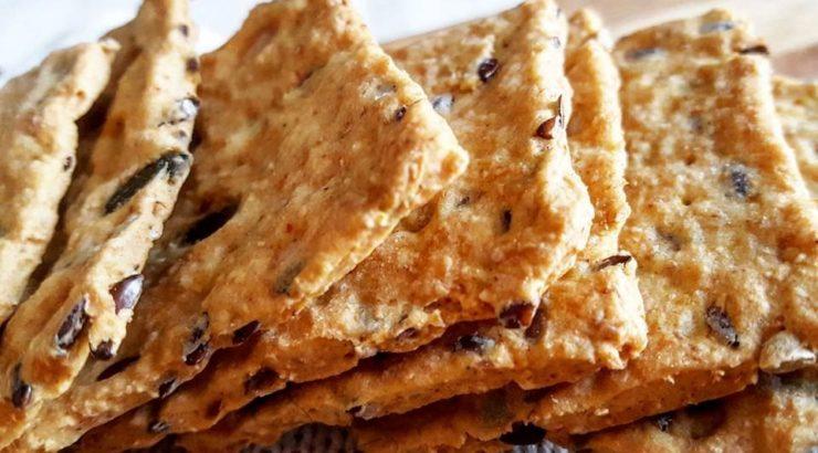 crackers proteici di canapa