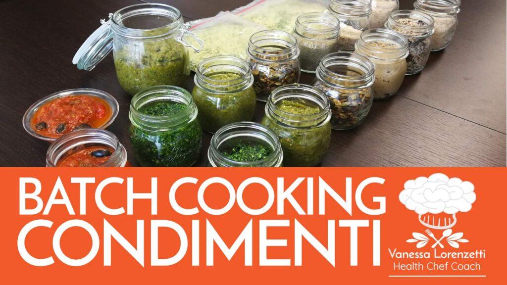 corso cucina oniline BATCH cooking CONDIMENTI