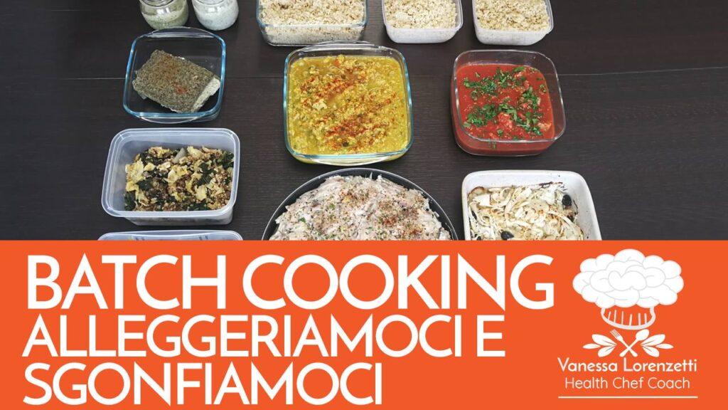 corso cucina online batch cooking alleggeriamoci