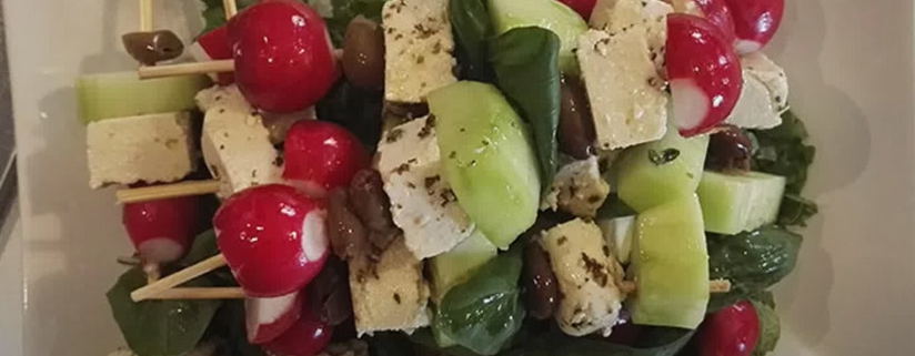 ricetta spiedini di feta di tofu